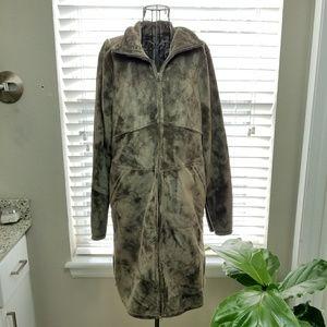 Athleta Long Fleece Full Zip Coat